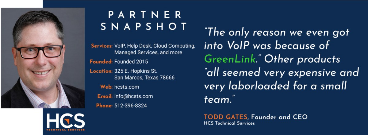 HCS Technical Services opens doors with Greenlink Networks VoIP